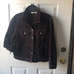 Brown Corduroy Jacket - Size L